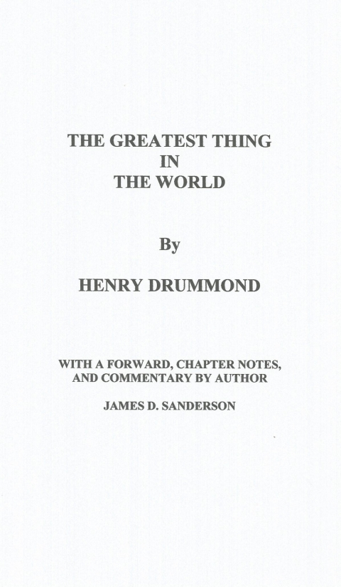 IL DONO SUPREMO - THE GREATEST THING IN THE WORLD - NUOVA GERUSALEMME